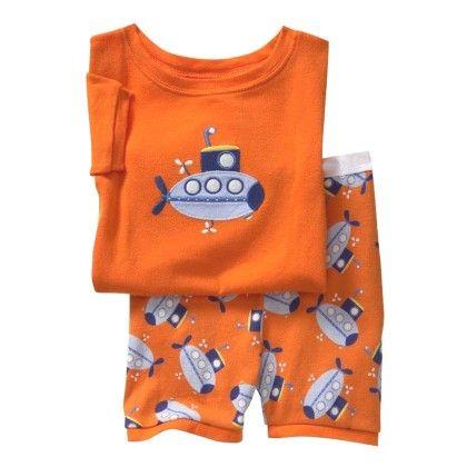 Orange Submarine Print T-shirt & Short Set - Lil Mantra