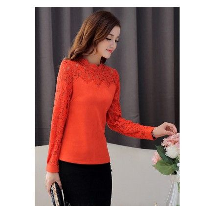 Fashion Casual Long Sleeve Orange - STUPA FASHION