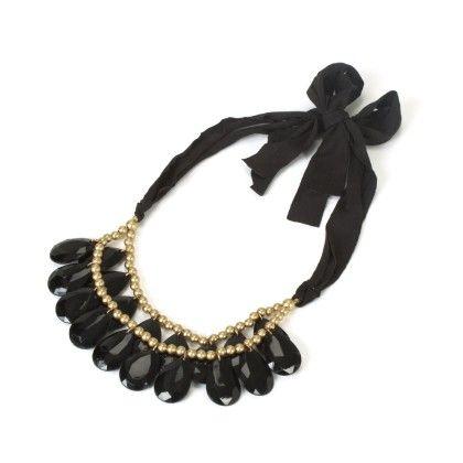 Black Stone Neck Piece - Jazz Fashions