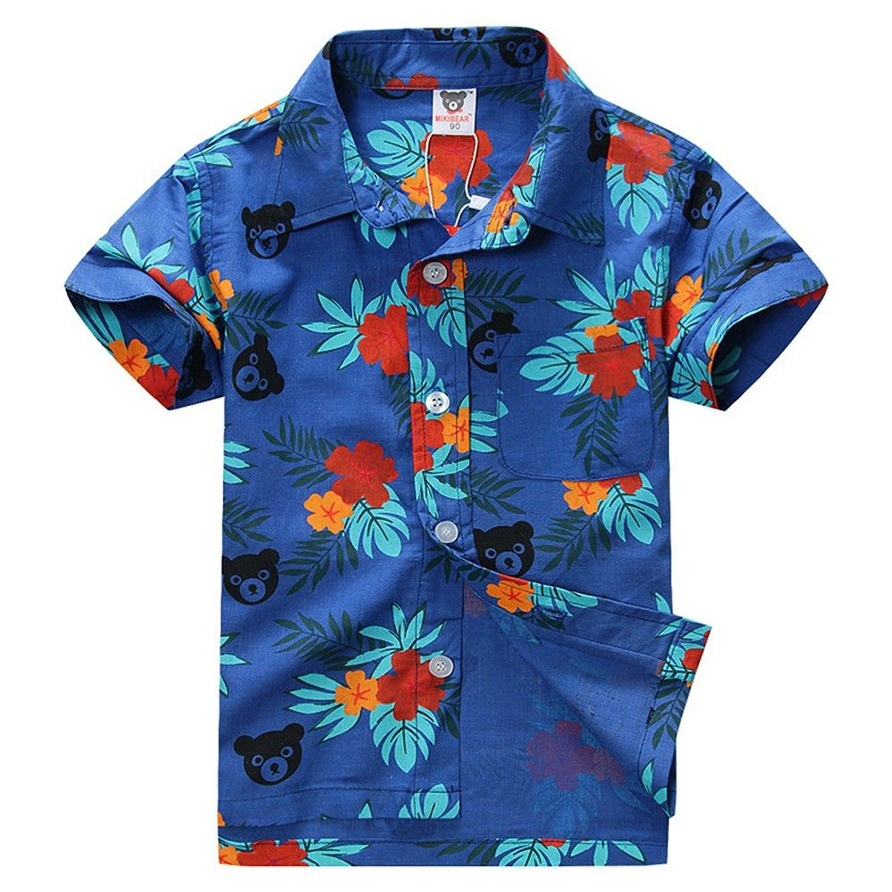 Blue Allover Floral Printed Shirt - Lil Mantra