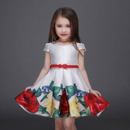Luxury Floral Party Dress - Petite Kids