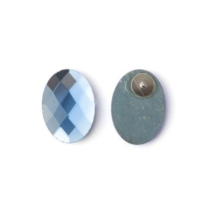Earing Round With Blue Stone - Wilfred Jewellery