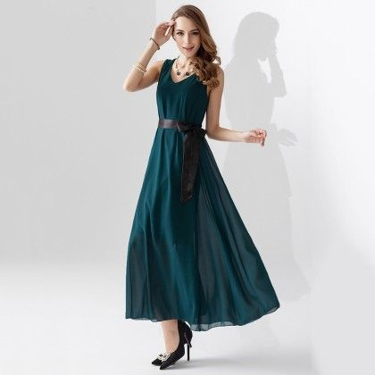 Green Long Maxi Dress - Dell's World