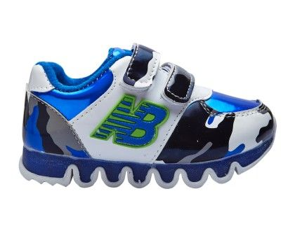 Double Velcro Casual Shoes In Blue - SMALLTOES