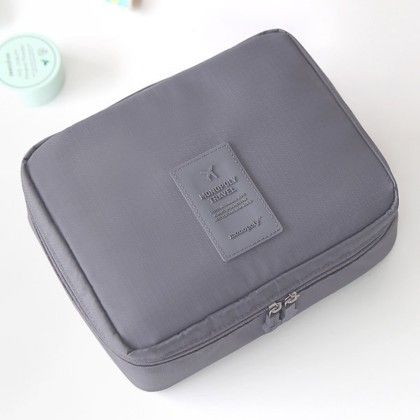 Grey Travel Pouch - Organization Collection