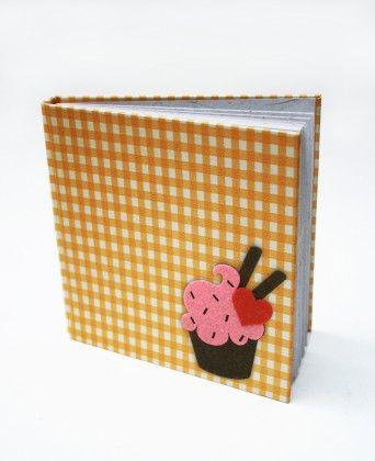 Yellow Cupcake Hard Bound Diary - Two For Joy