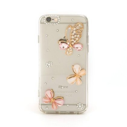 Bow Diamond Studded Iphone5-iphone 5s Phone Cover - Mobo Art