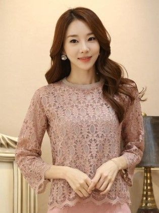 Beautiful Beige Lace Summer Top - Mauve Collection