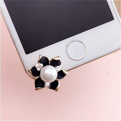 Black Rose Mobile Dust Plug - Flaunt Chic