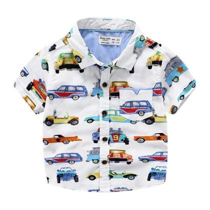 Vehicles Printed Party Shirt - Lil Mantra