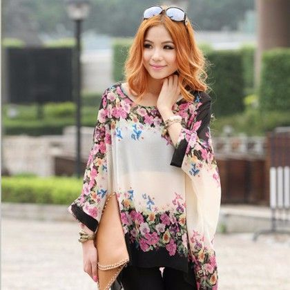White Floral Casual Printed Top - STUPA FASHION