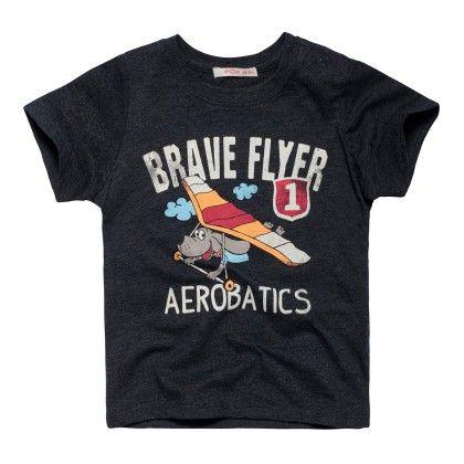 Brave Flyer Black T-shirt - FOX