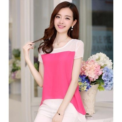 Pink Long Summer Tops - STUPA FASHION