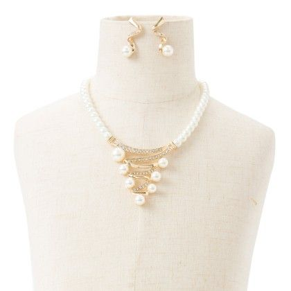 Neckpiece With Pearl And Earing Multi - Wilfred Jewellery