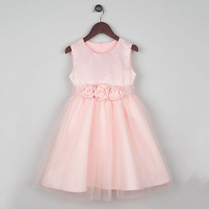 Blush Pink Flower Girl Dress - Joe Ella