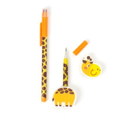 Animal Pencil With Eraser - Yellow - It's All About Me