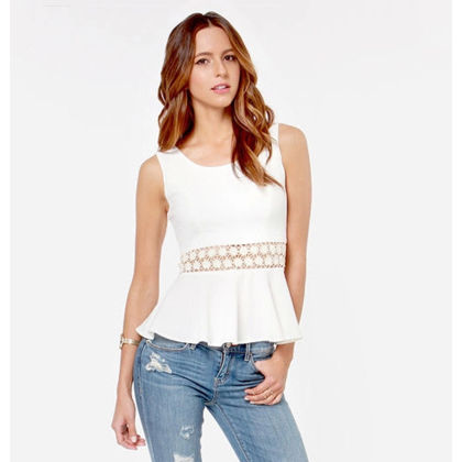 Funky Sleevless Lace Top - Dell's World