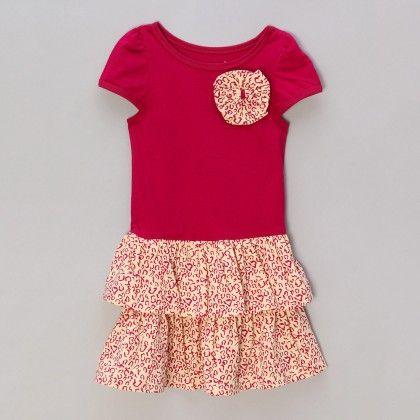 Bow Dress With Leopard Print - Pink - A.T.U.N