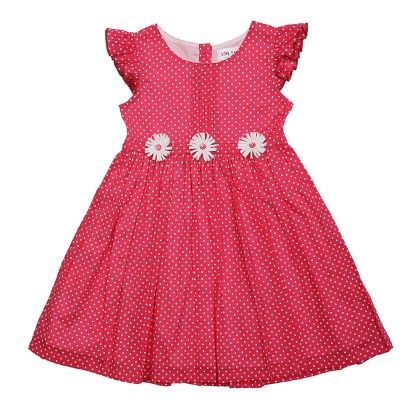 Polka Printed Dress-pink - Soul Fairy
