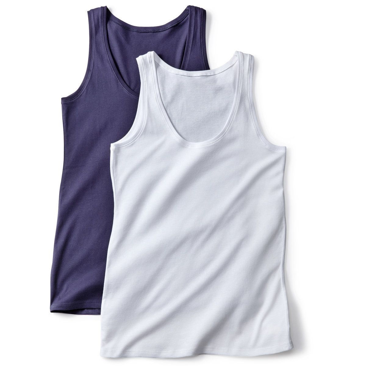 White And Marine Pack Of 2 Tank Tops - La Redoute