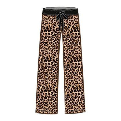 Brown Leopard Printed Long Pant - Rene Rofe