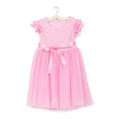 Pink Party Wear Dress With Soft Lace Dress With Net - Party Princess