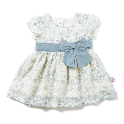 Floral Printed Dress With Bow - White - TOFFYHOUSE