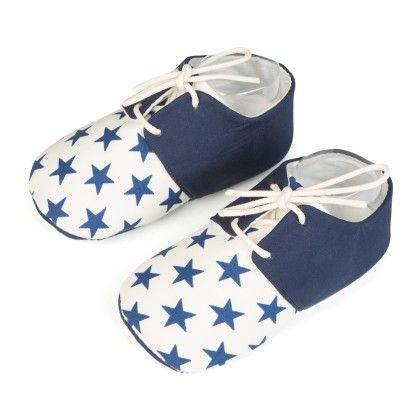 Stars Printed Unisex Shoes - Blue - Jute Baby