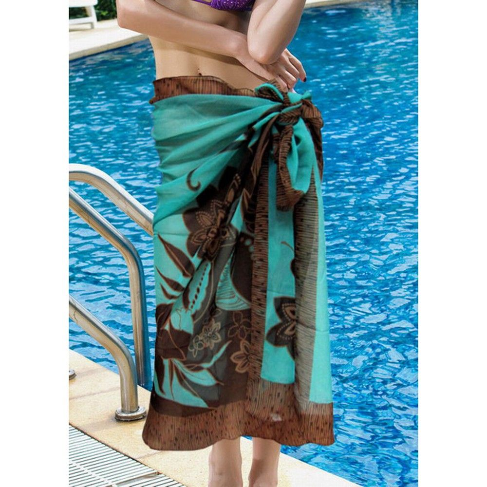 Coverup Beach Dress Sarong - Long Scarf Sea Green - Ruby Swimwear