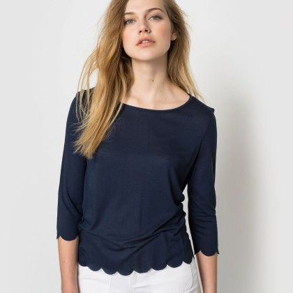 Marine Cut Out Hem Top - La Redoute