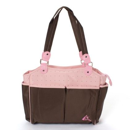 Advance Baby Multi Function Mama Tote Diaper Bag-pink-brown - A Baby