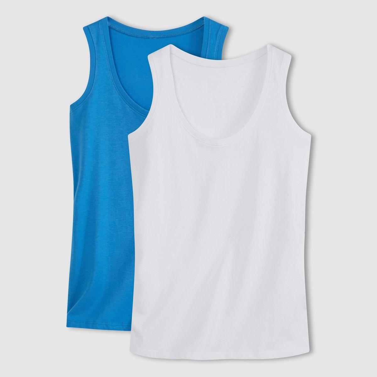 White And Blue Pack Of 2 Tank Tops - La Redoute
