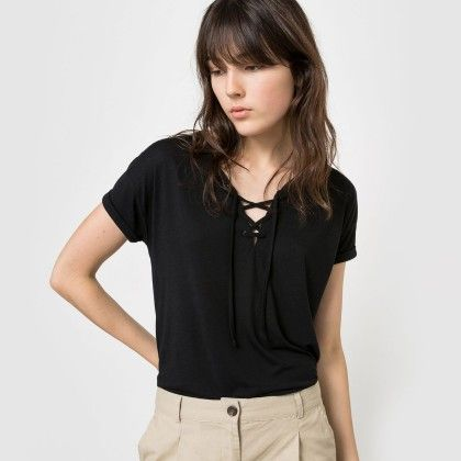 Black Knot At Front Basic Tee - La Redoute