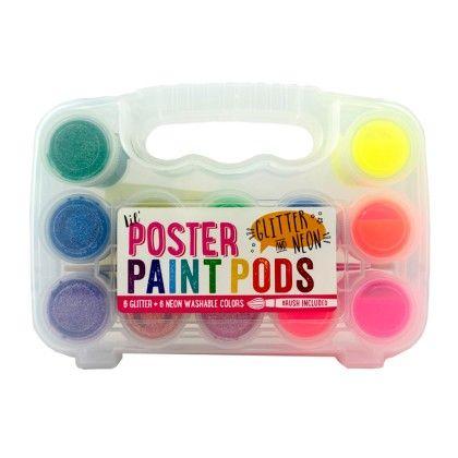Lil' Paint Pods Poster Paint-neon & Glitter - International Arrivals