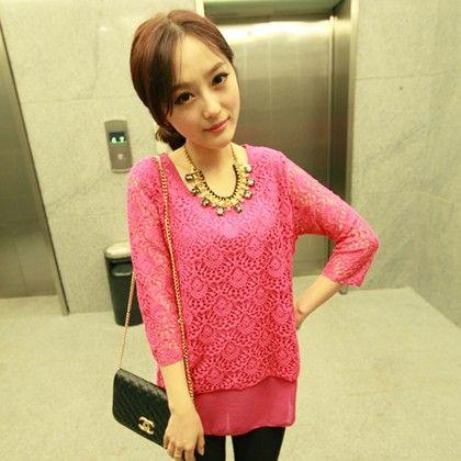 Summer Pink Crochet Top - STUPA FASHION