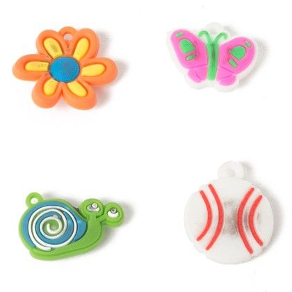 Set Of 4 Tiny Magnets (flower-ball-butterfly-snail) - It's All About Me