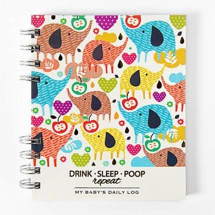 Drink Sleep Poop - Baby Log Book - Paper Crush