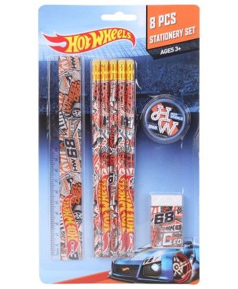 Hot Wheels 8 Pieces Stationery Set - My Baby Excel