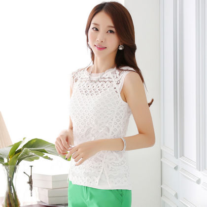 Exclusive Sleevless Lace Top - Dell's World