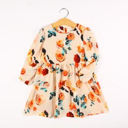 White Floral Print Dress - Lolita