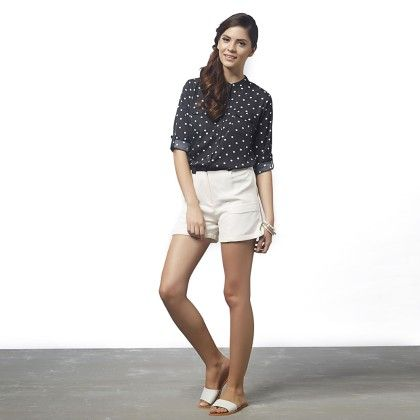 Dotted Button Down Shirt - The Label Life