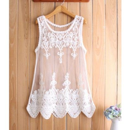White Sleevless Lace Shrug - Dell's World