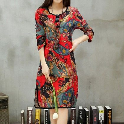 Ethnic Printed Short Dress - STUPA FASHION