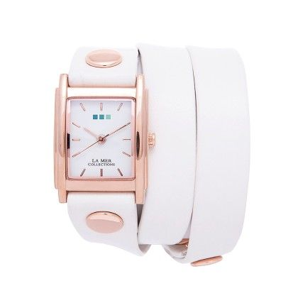 White And Rose Gold Special Edition Wrap Watch - Lamer Watches