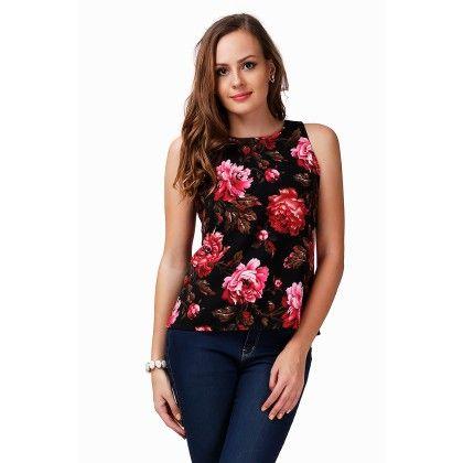 Multicolor Floral Print Top - Dressvilla - 276488