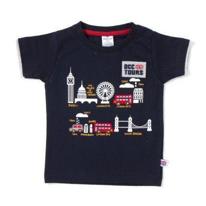 Tours Print Navy T-shirt - Ollypop
