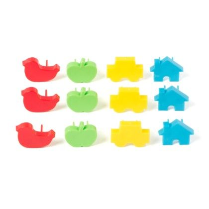 12 Piece Outlet Plugs Assorted Colour - Sale Zone