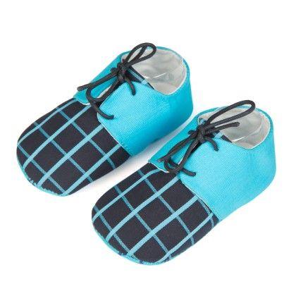 Lace Up Unisex Shoes - Blue - Jute Baby