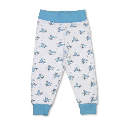Aqua Full Pant With Allover Print - Earth Conscious
