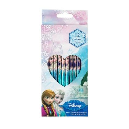 Follow 12 Color Pencils Set - Frozen